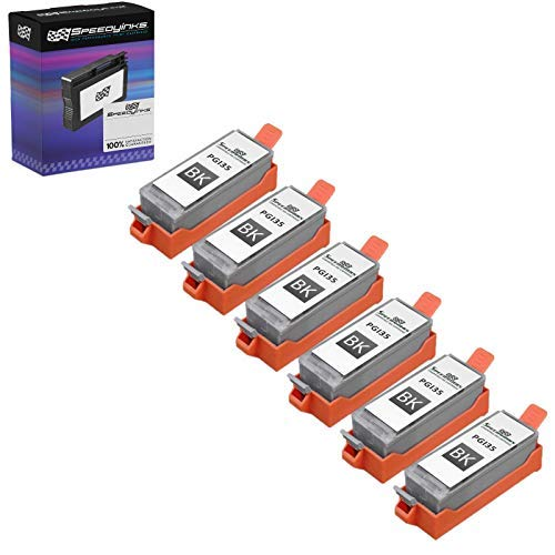 Speedy Inks Compatible Ink Cartridge Replacement with Chip for Canon PGI35 (Pigment Black, 6-Pack)