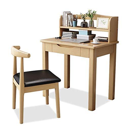 Comfortable Ergonomic Home Office Desk Wooden Computer Desk Laptop Table Home Office Furniture Writing Study Desk Desk Study Table (Natural,)
