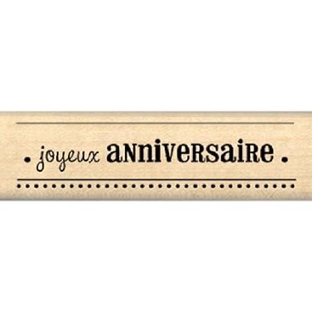 Florilèges Design FB208088 Tampon Scrapbooking Vœux d'anniversaire, Beige