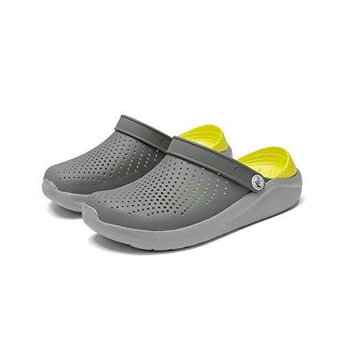2020 Summer Beach Woman Shoes Crocks Ladies Women Flat Sandals e Clogs Shoe Croc Shoes Slippers Sandalen Zapatos Sandas-Gray Yellow-9