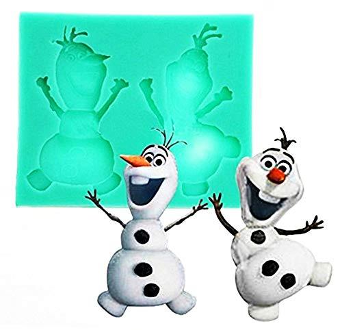 Lovelegis Molde de Silicona Olaf - Dibujos Animados - jabón - Resina - Tiza - Idea cumpleaños - moldes de Silicona - Molde Artesanal