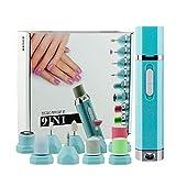 SGSG Nail Art Drill Kit Sistema de Archivo de uñas eléctrico Profesional Manicura 9 en 1 Pedicura Juego de limas para uñas Herramientas para pulir, Alisar, lustrar uñas, Eliminar cutículas Callos
