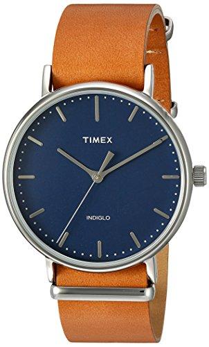 Timex Unisex TW2P97800 Fairfield 41 Tan Leather Slip-Thru Strap Watch