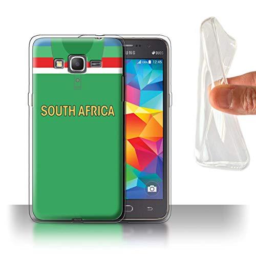 eSwish Gel TPU Hülle/Case für Samsung Galaxy Grand Prime/Südafrika/Afrikanisch Muster/Retro Cricket Weltmeisterschaft 1992 Kollektion