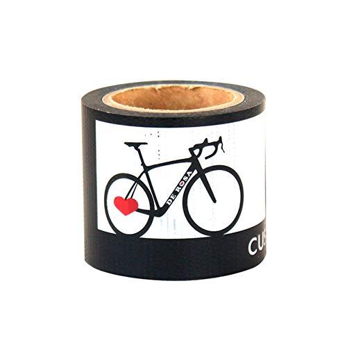DE ROSA デローザ derosa YOJO TAPE 自転車柄 ハート 養生テープ DIY (黒、自転車柄)