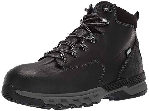 "Timberland PRO Men's Downdraft 6"" Waterproof Industrial Boot, Infrared-Resistant Black, 9.5 M US"