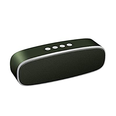 Sonkir X2 Plus Portable Speaker, TWS Bluetooth 5.0 Wireless Speaker with 10W Bass Stereo Sound, 12H Playtime, Built-in 2000 mAh Battery (Olive Green) by Sonkir