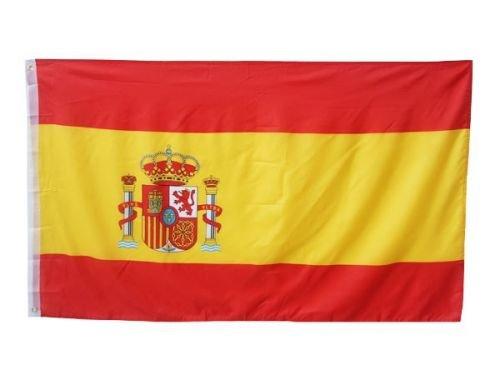 Fahne 90 x 150cm | SPANIEN SPAIN | mit Ösen Flagge Fahne Flaggen Fahnen zum Hissen