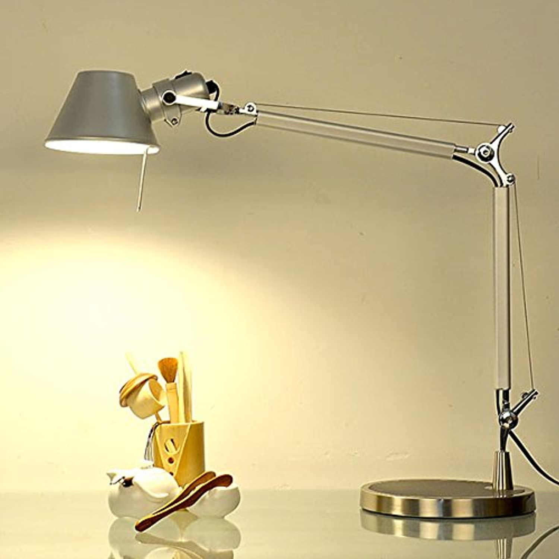 Klassische amerikanische lange Arme, Metall Büro arbeitet mit LED-Lampen in der Studie Augenschutz Schreibtischleuchte, Schwarz