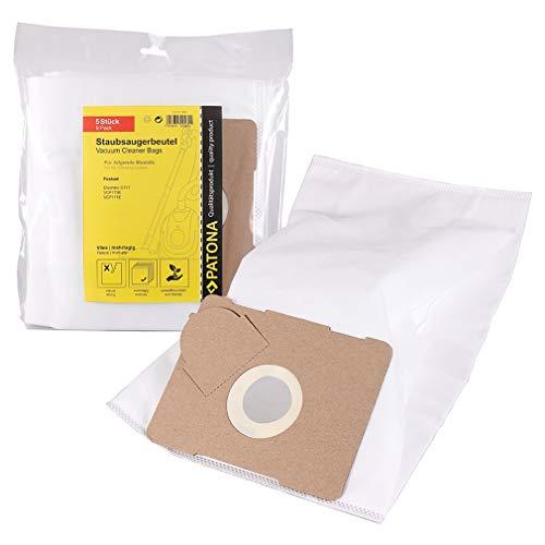 PATONA 5x Sacchetti per aspirapolvere compatibile con Festool Cleantec CT 17 E, VCP170E, VCP171E, Sacchetto cinque strati in vello sintetico