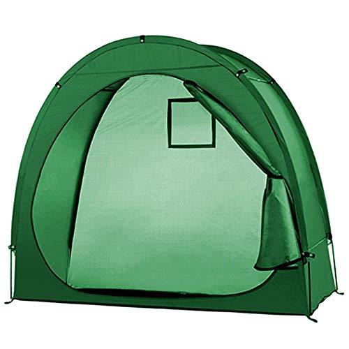 ZYF Zelt Fahrradkeller Schuppen Fahrradkeller mit Fensterfür draußen Camping Zelt für Winterfischen, grün