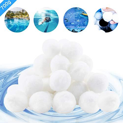 Cypin Filter Balls,700g Pool Filterbälle Ersetzen 25 kg Filtersand für Sandfilteranlage.hohe Wasserdurchlässigkeit, Filterbälle für Pool/Filterpumpe/Aquarium Sandfilter