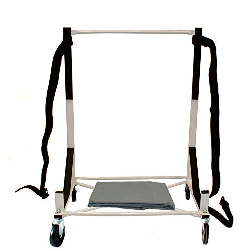Premium Heavy-duty Hardtop Stand Storage Cart with 5 inch Diameter Castors, Securing Strap and Generic Hard Top Dust Cover