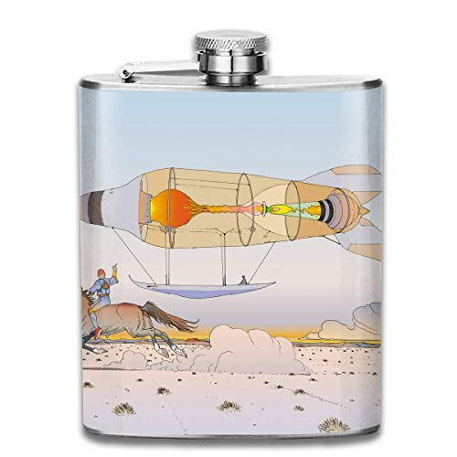 Flask Stainless Steel Hip Flask Comics Wine Bottle Whiskey Container Flask Pocket for Adults