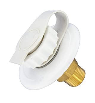 Valterra A01-0170LF White 2-3/4  MPT Lead-Free Flush Mount Water Inlet