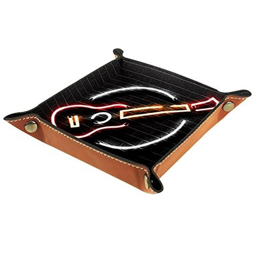 Yumansis Bandeja de dados con bandeja de dados, bandeja de almacenamiento, bandeja de dados para juegos de mesa RPG DND, bandeja de dados para guitarra simple 20,5 x 20,5 cm