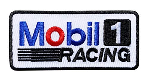 Mobil 1 Motorsport Oil Racing Iron on Sew on Patch Patch (4.0 inch)