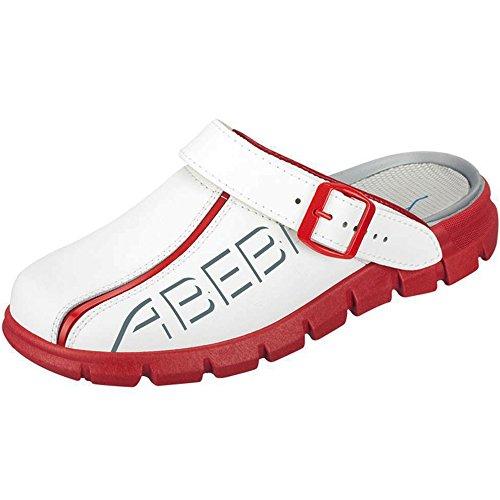 Abeba 7313–35Dynamic Pantoffeln, Taille 41, weiß/rot