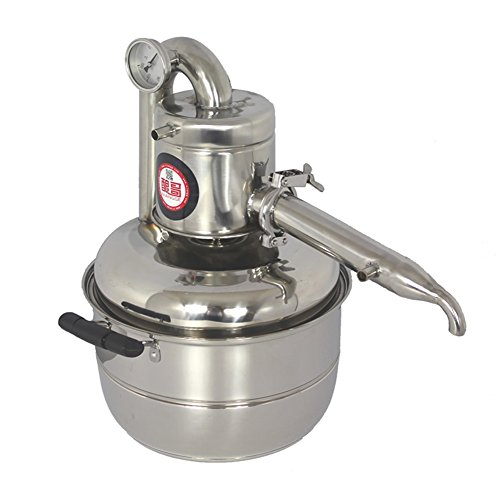 TOPCHANCES 10L/352oz Alcohol Stainless Distiller Home Brew Kit Wine Making Boiler Home Wine Brewing Device Alcohol Distiller