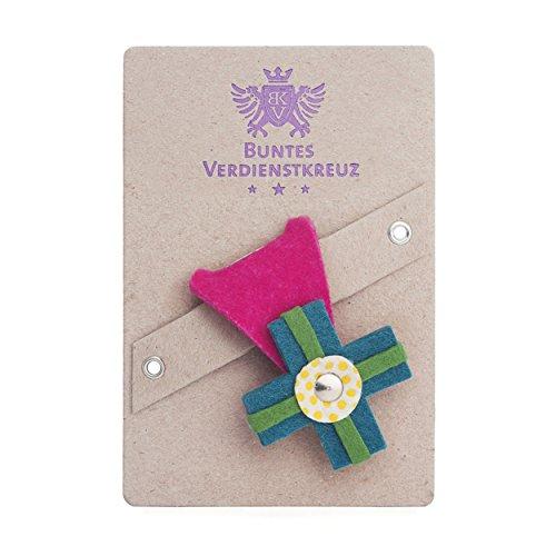 vonbox Buntes Verdienstkreuz pink/türkis