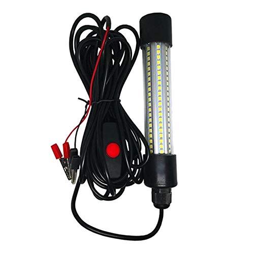 Perfeclan 12V 13W LED Sumergible Pesca luz bajo el Agua súper Brillante Camarón Crappie luz buscador señuelo Cebo lámpara con 6 Metros de Cuerda - Verde