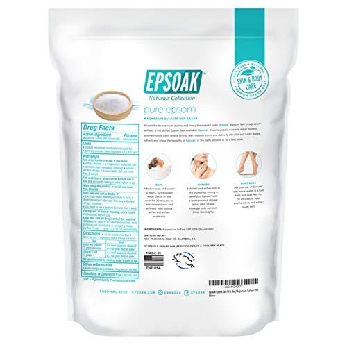 Epsoak Epsom Salt 19 lb. Bulk Bag Magnesium Sulfate USP