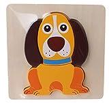 JohnToy Puzzle de madera con forma de perro (5 piezas)