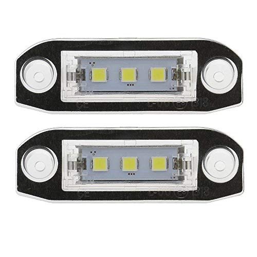 GZCRDZ Lot de 2 lampes LED Canbus pour plaque d'immatriculation S80 XC90 S40 V60 XC60 S60 C70 V50 XC70 V70 Blanc