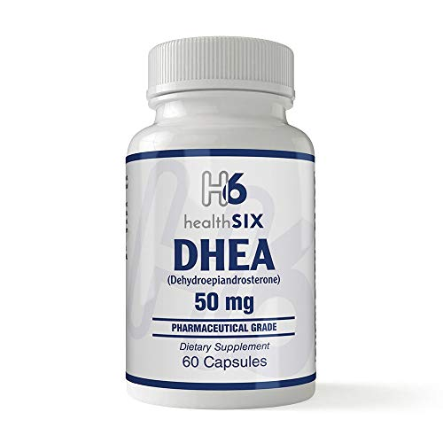 Health SiX DHEA (Dehydroepiandrosterone)   50 Mg   60 Capsules