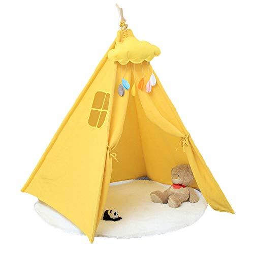 KUSAZ Tienda Infantil Casa de Juegos Infantil de Estilo Indio para niños Menores de 14 años-Amarillo