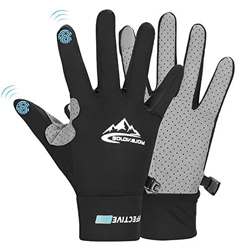 Rayisin Handschuhe Herren & Damen, Fahrradhandschuhe lang, Sommer Handschuhe Radfahren, Kompatibel MTB Handschuhe mit Gel, Sporthandschuhe für Rennradfahren, Mountainbiken, Fahren, Fitness