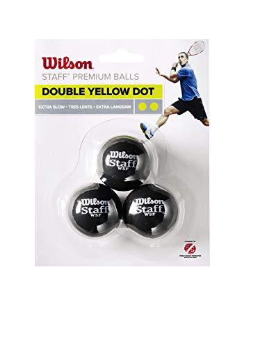 Wilson WRT618100 Balle de Squash, Staff, 3...