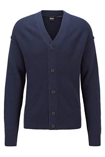 BOSS Herren Kirgan Cardigan Sweater, Dunkelblau, XL EU