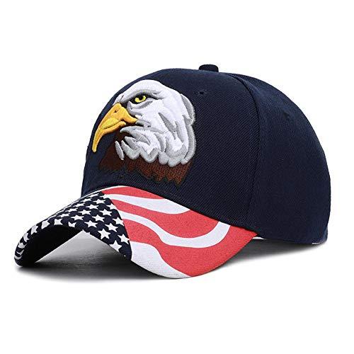 Goodtimera Patriotische amerikanische Adler-Kappe, 3D gestickte Baseballmütze Patriot Eagle American Flag-justierbares Baseballmütze-klassisches Unabhängigkeitstag-Geschenk