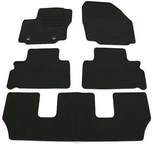 AD Tuning HG11951V Velours Fußmatten Set (5-teilig) Schwarz Passform Autoteppich