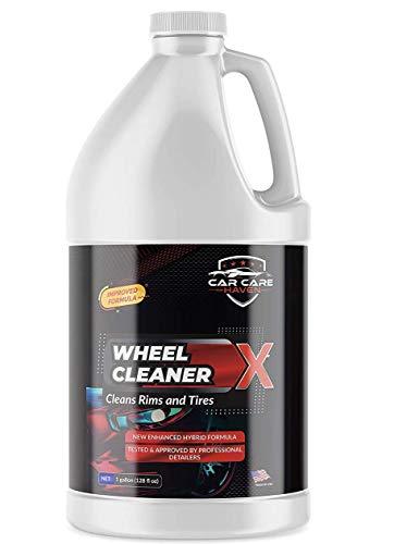 Car Care Haven Wheel Cleaner X (Gallon) Non Acid Wheel Cleaner, Foaming Tire Cleaner, Wheel Detailer, Rim Cleaner, Hubcap Cleaner & Limpiador de Llantas. Busts Through Brake Dust and Road Dirt Easily!