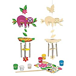 Paint Your Own Sloth Wind Chime Art Kit