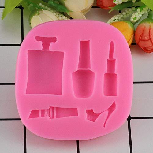 WANGY Kosmetik Lippenstift Parfüm Flasche Hochhackige Schuhe Silikonformen Praline Fondant Form Kuchen Dekoration Werkzeuge