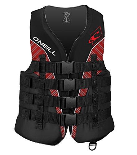 Review O'Neill Men's Superlite USCG Life Vest,Black/Graphite/Red/White,Small