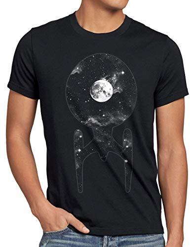 style3 Trek Nave Espacial Camiseta para Hombre T-Shirt Trekkie Star, Talla:L, Color:Negro