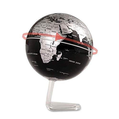 Globos Mapa de Esfera Mundial Enseñanza y Aprendizaje Científico Creativo Suspensión magnética Rotación Decoración del hogar Adornos, Negro