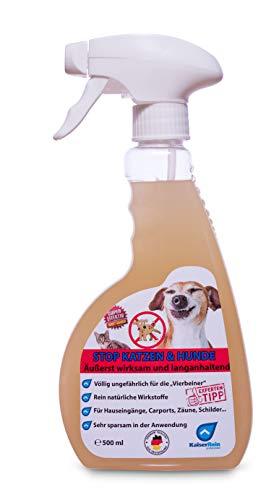 KaiserRein STOP Hunde und Katzen 0,5 L (500 ml) Hunde und Katzen Stop unser fernhalte Spray Spray Hunde Fernhaltespray Katzen Fernhaltespray Ungefährlich für die Tiere