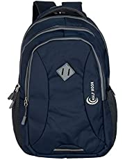 Half Moon 34 Ltrs Lightweight Casual Waterproof Laptop Bag for Men Women Boys Girls/Office School College Teens & Students with RAIN Cover (18 Inch) (Navy)