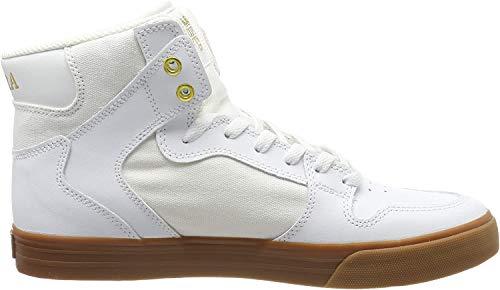 Supra Unisex-Erwachsene Vaider Hohe Sneaker, Weiß (White/Gold-Lt Gum 176), 45 EU