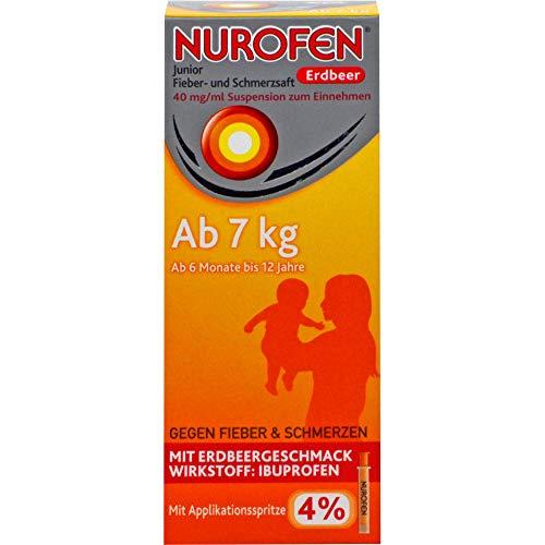 Nurofen Junior Fieber- und Schmerzsaft Erdbeere 4%, 100 ml Lösung