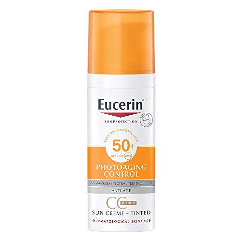 Eucerin Sonnenschutz Photoaging Control CC Sonnencreme Medium getönt SPF50+, 50 ml
