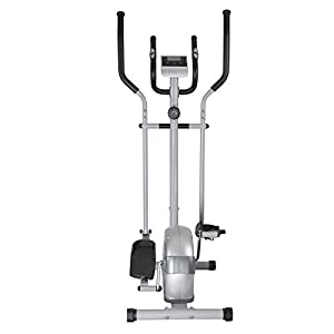 EFITMENT Magnetic Elliptical Machine Trainer w/LCD Monitor and Pulse Rate Grips (E005)