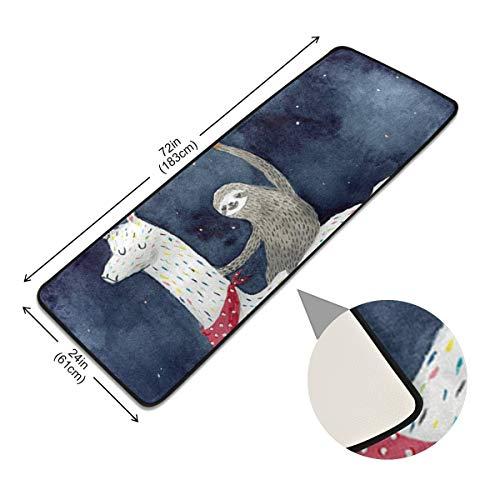 XiangHeFu Startszijde, antislip-tapijt, voetmat, dierlijk lui, rijden paard antislip tapijtpads vloer
