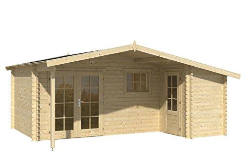 Blockhaus ZWOLLE 530 x 320 + 450cm Gartenhaus 45mm Holzhaus