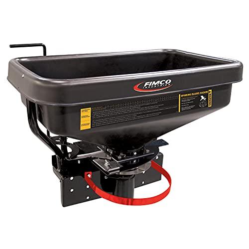 FIMCO 5301845 ATV Dry Material Spreader for Fertilizer, 145 Lbs Polymer Hopper, Adjustable Slide Gate, Stainless Steel Radial Fan, 12V, Variable Speed